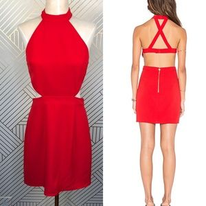 NBD x Naven Twins Show It Off Bodycon Dress in Red